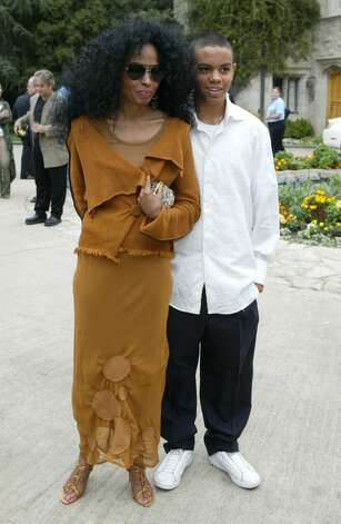 BEVERLY HILLS, CA - OCTOBER 16:  Singer Diana Ross and son Evan Naess arrive at the 10th Annual Safari Brunch on October 16, 2004 at the Playboy Mansion in Beverly Hills, California.  (Photo by Frazer Harrison/Getty Images) Photo: Frazer Harrison, Getty Images / 2004 Getty Images
