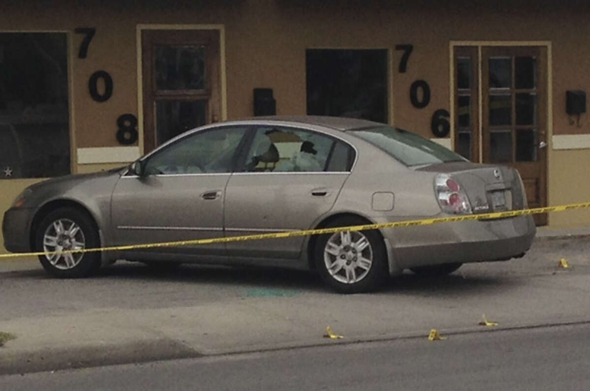 A window on a Nissan Altima registered to Mayor Ivy Taylor was shot during a drive-by on North New Braunfels Avenue. Taylor is known to drive a different car.