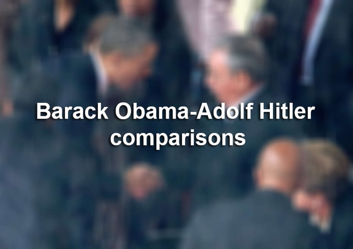 Scroll through to see which elected officials have compared President Barack Obama to Adolf Hitler.