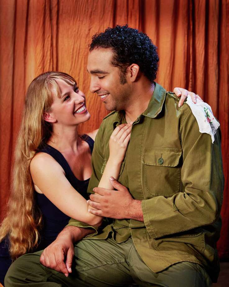 """Jennifer Le Blanc plays Desdemona and Armando McClain is Othello in the Arabian Shakespeare Festival's production of """"Othello."""" Photo: Gregg Le Blanc / ONLINE_YES"""