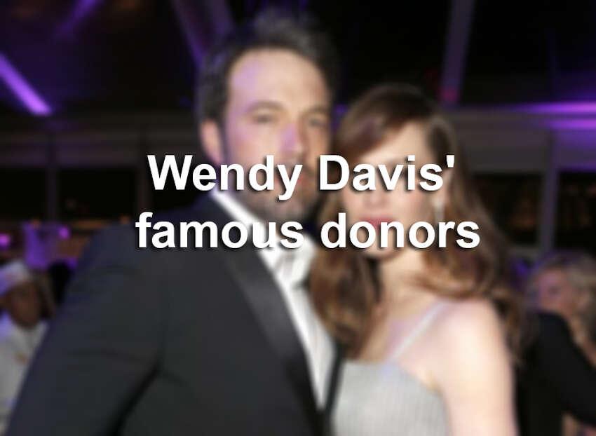Meet the celebrities pumping money into Democratic gubernatorial candidate Wendy Davis' campaign.