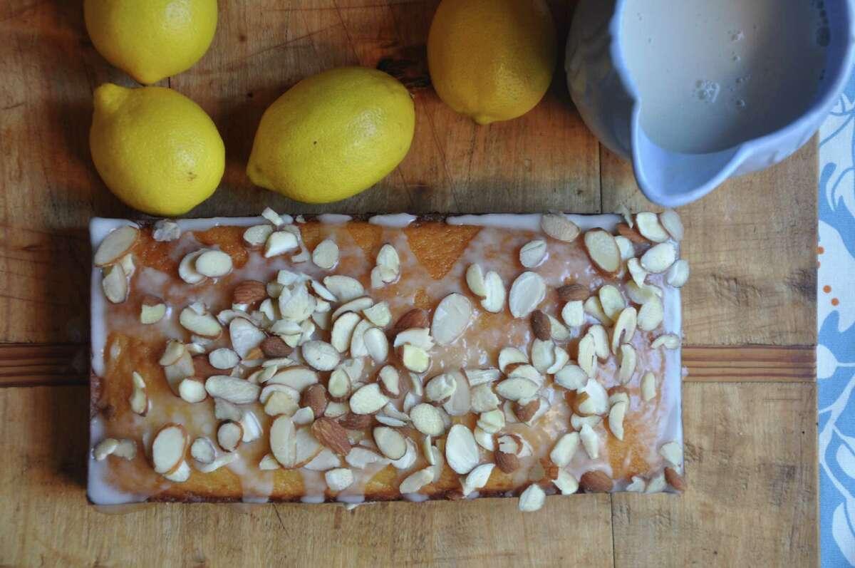 Almond Lemon Bread made with almond milk.
