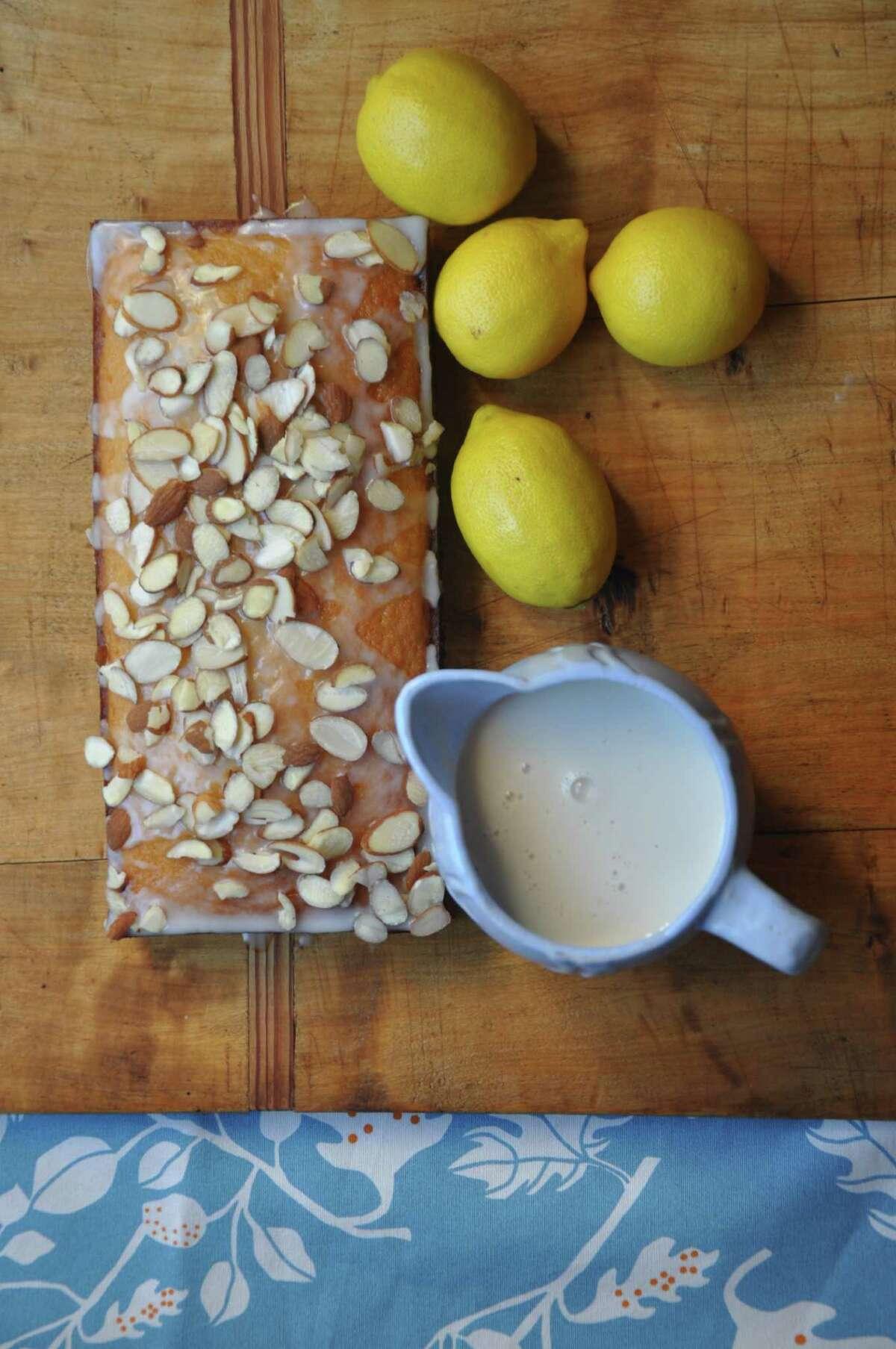 Almond Lemon Bread, made with almond milk