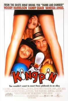 'Kingpin' - The Farrelly brothers dumb down and goof up pro bowling -- and gross us out in the process. After bowler Roy Munsen (Woody Harrelson) swindles the wrong crowd and is left with a hook for a hand, he settles into impoverished obscurity. That is, until he uncovers the next big thing: an Amish kid named Ishmael (Randy Quaid). So, the corrupt and the hopelessly naïve hit the circuit intent on settling an old score with Big Ern (Bill Murray). Available Nov. 1 Photo: Handout