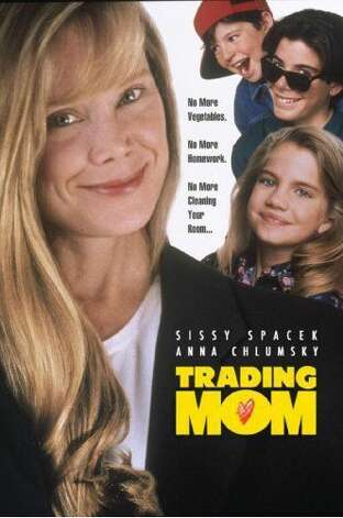 "'Trading Mom' - Sissy Spacek plays four different characters in this unusual family comedy about three young siblings -- Elizabeth, Jeremy and Harry -- who magically banish their overworked single mother and try out several new models found at the ""Mommy Market."" Available Nov. 1 Photo: Handout"