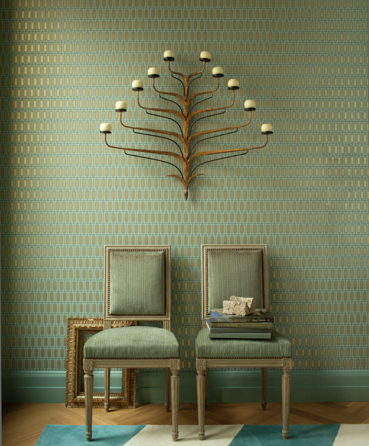 San Francisco interior designer Benjamin Dhong's favorite: A sconce that is from Leftovers in San Francisco.