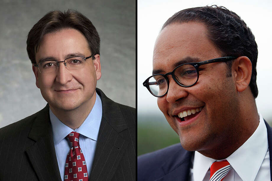 Candidates in the Congressional District 23 race: U.S. Rep. Will Hurd (right), R-Helotes, and former U.S. Rep. Pete Gallego, D-Alpine. Photo: File