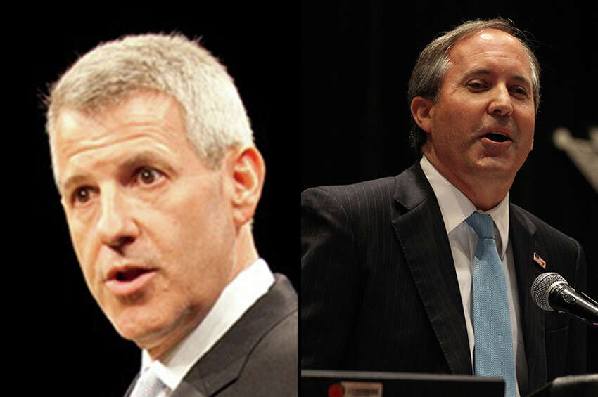 State Sen. Ken Paxton, R-McKinney, (right) beat Houston lawyer Sam Houston, a Democrat, to succeed Greg Abbott as the state's next attorney general. The Texas Securities Board reprimanded and fined Paxton $1,000 for repeatedly soliciting investment clients over the past decade without being properly registered with the state. A criminal complaint related to the violation sits with the Travis County district attorney's office, which has said it will not act until after the election, and two grievances have been filed with the State Bar of Texas.