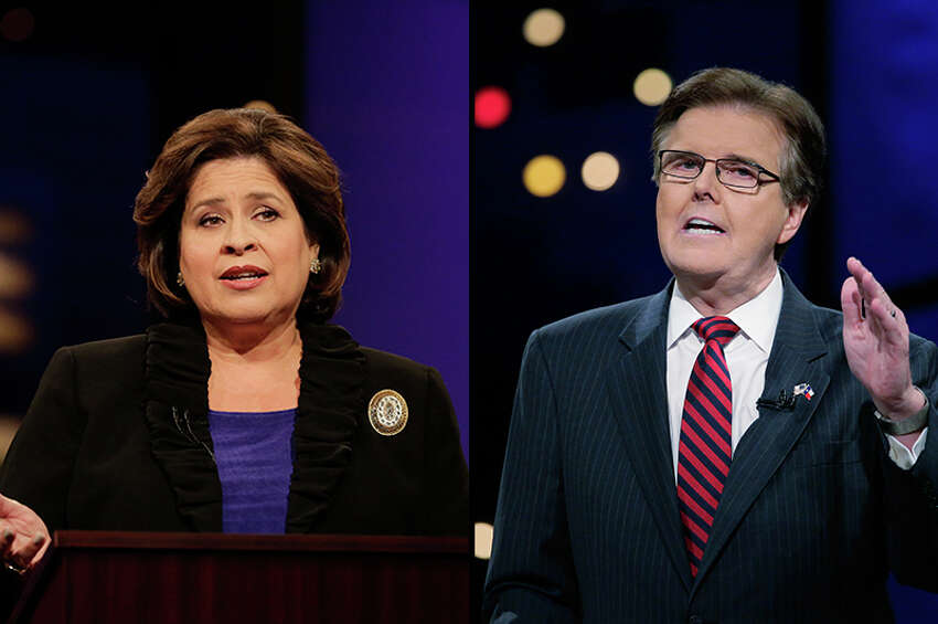 State Sen. Dan Patrick, R-Houston, (right) soundly defeated state Sen. Leticia Van de Putte to become Texas' next lieutenant governor. Patrick snagged the Republican nomination from incumbent David Dewhurst in May.
