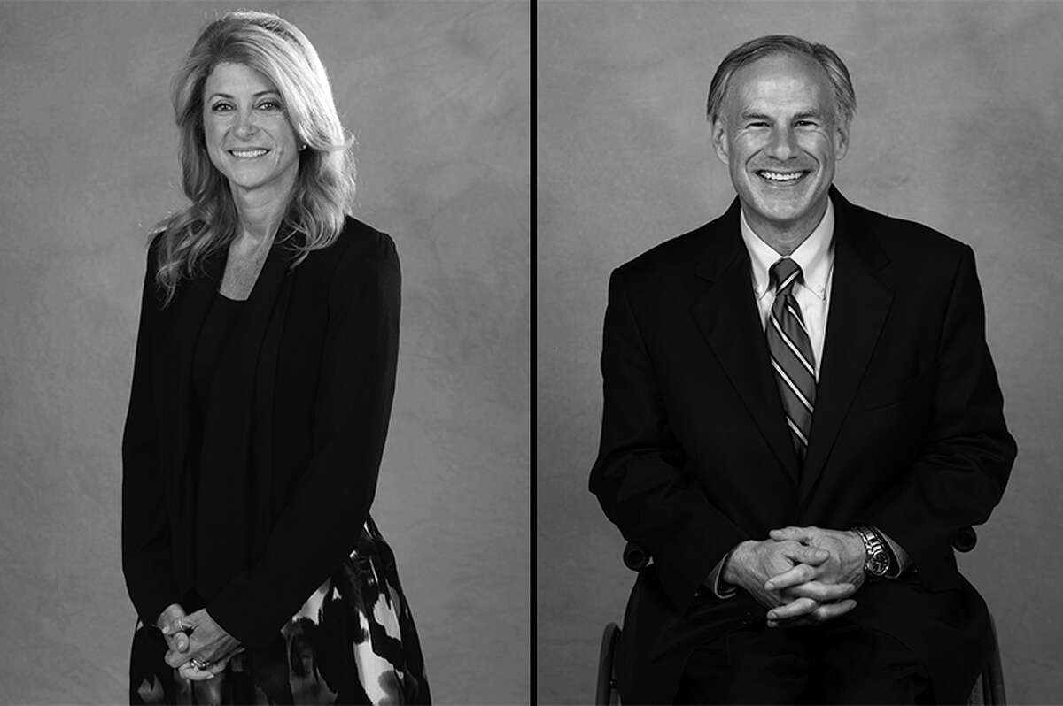 Texas Attorney General Greg Abbott, a Republican, (right) crushed state Sen. Wendy Davis, R-Texas, to succeed Governor Rick Perry.