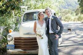 A Wine Country wedding at Beltane Ranch in Sonoma County made for a quintessentially West Coast experience for family and friends of bride Courtney Finley and groom Ben Grinnell, natives of New York who now live in San Francisco. The nuptials were celebrated July 19, 2014.