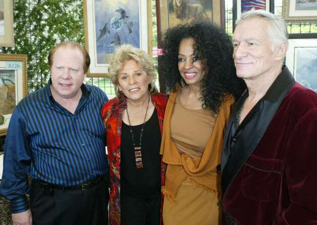 BEVERLY HILLS, CA - OCTOBER 16:  Chairman of the board Bob Lorsch, founder/director of Wildlife Waystation Martine Colette, singer Diana Ross and Hugh Hefner pose inside at the 10th Annual Safari Brunch on October 16, 2004 at the Playboy Mansion in Beverly Hills, California.  (Photo by Frazer Harrison/Getty Images) Photo: Frazer Harrison, Getty Images / 2004 Getty Images