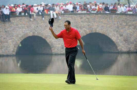 tiger woods in houston for his first united states golf