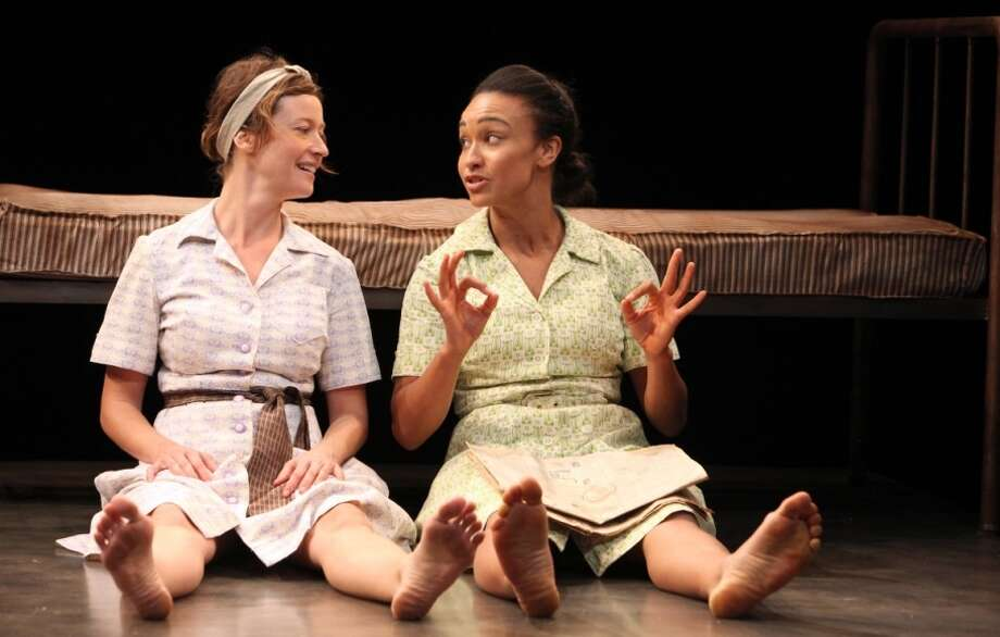 """Dee (Jessi Campbell, left) and Jamie (Tristan Cunningham) forge a friendship in """"And I and Silence"""" at Magic Theatre. Photo: Jennifer Reiley / ONLINE_YES"""