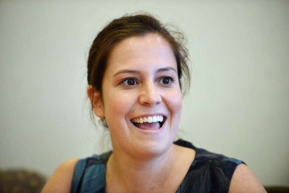 Elise Stefanik, Republican candidate in the 21st Congressional District race, speaks during a Times Union editorial board meeting Monday afternoon, Oct. 27, 2014, in Colonie, N.Y. (Will Waldron/Times Union) Photo: WW / 00029107A