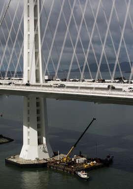 The Bay Bridge is seen on Sept. 25, 2014.