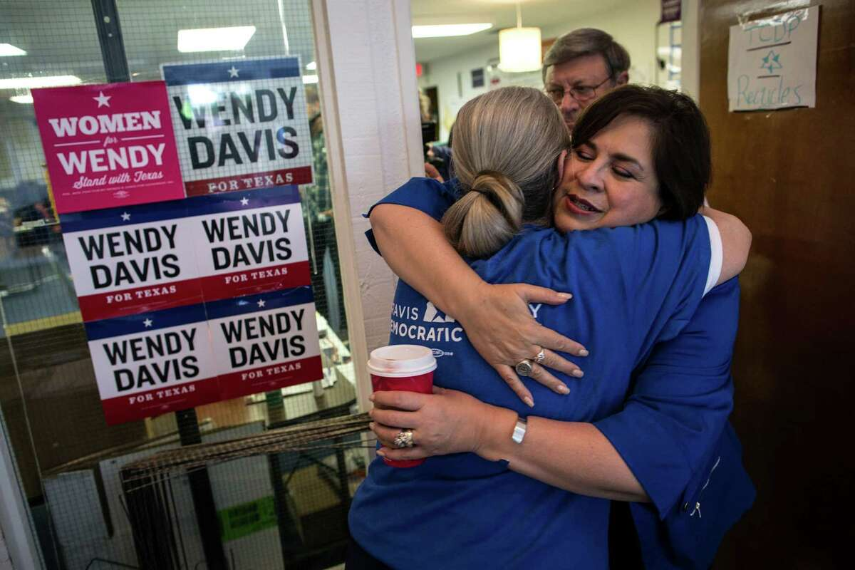Leticia Van de Putte, right, vowed to stay active in the Senate.