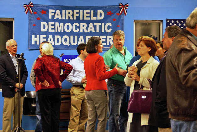There would be very little good news for the supporters at the Democratic headquarters Tuesday. Photo: Genevieve Reilly / Fairfield Citizen