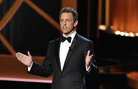 Seth Meyers hosted the Emmys held Aug. 25 in Los Angeles.