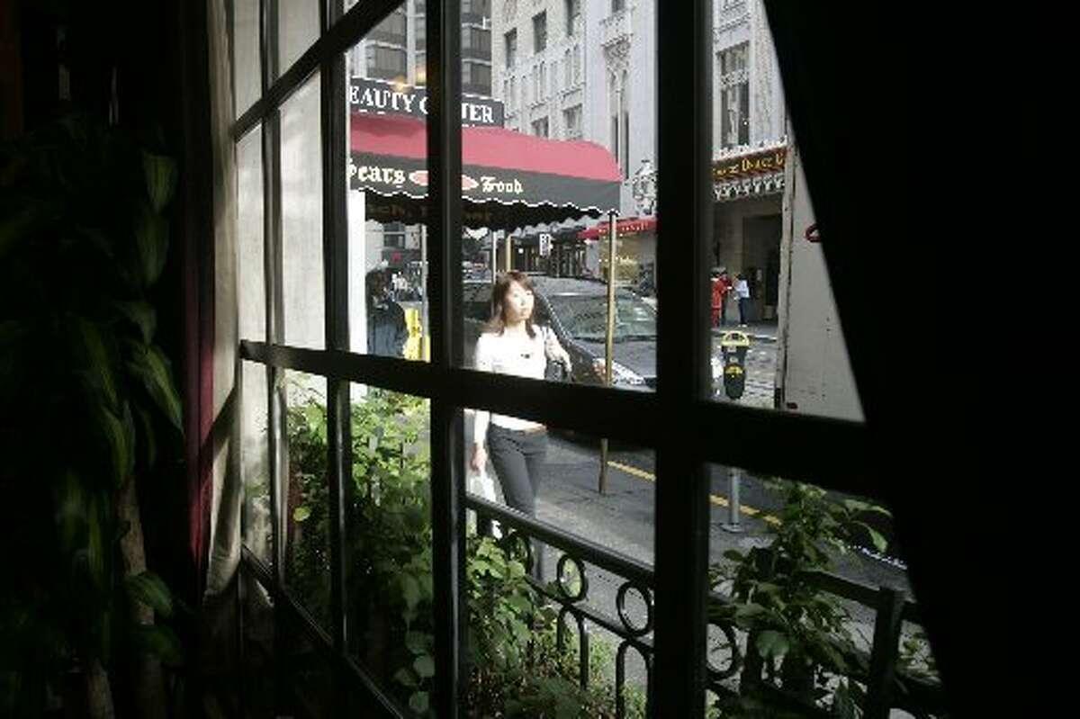 The front window overlooking Powell Street