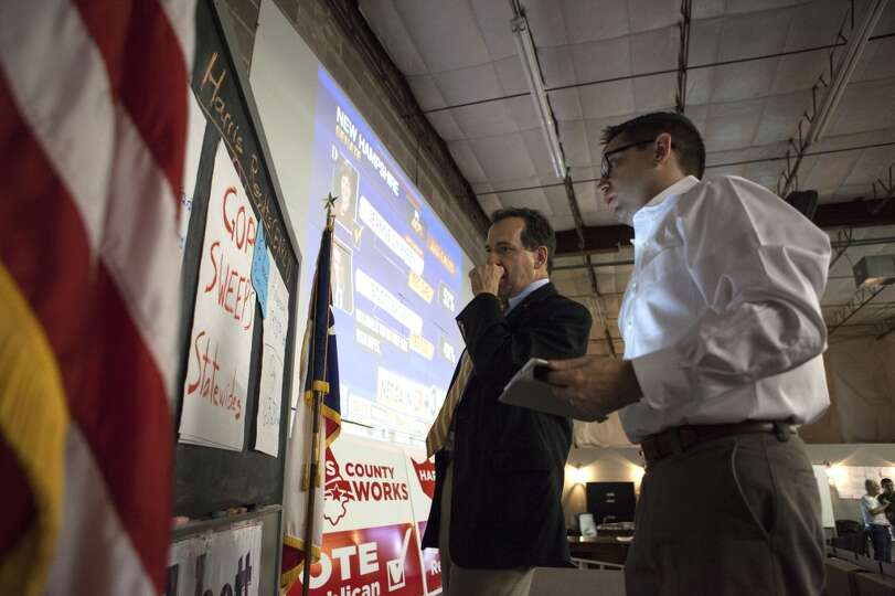Harris County Republican Party Chairman Paul Simpson, left, and Ben ...