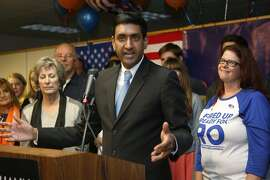 Ro Khanna speaks to supporters on election night on Nov. 4, 2014.