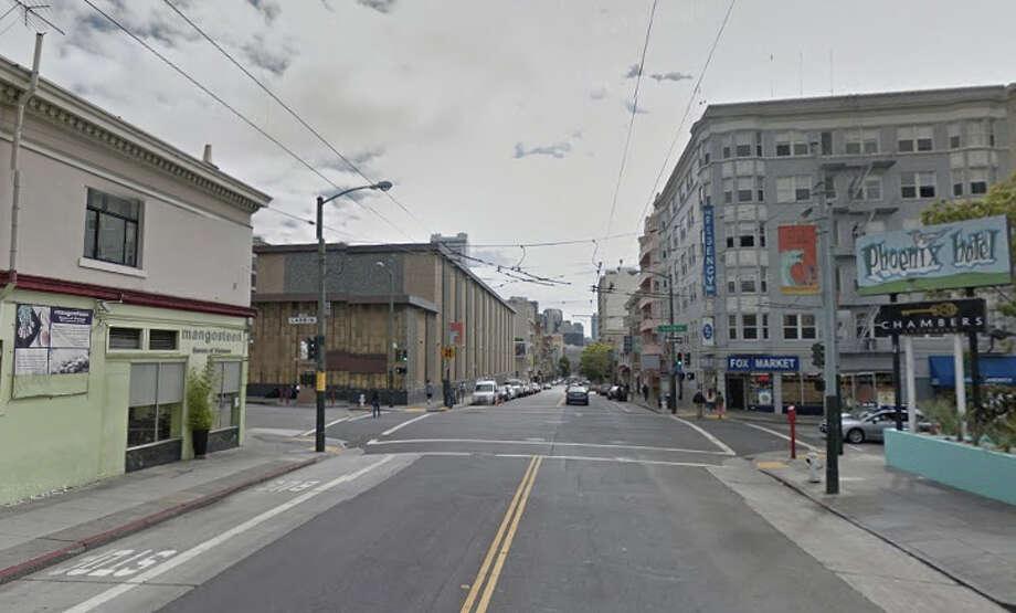 Joseph Jeffrey, 54, was run over near Eddy Street near Larkin in San Francsico early Monday morning. Photo: Google Maps