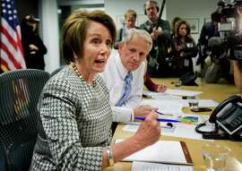 House Minority Leader Nancy Pelosi, D-San Francisco, and Rep. Steve Israel, D-N.Y., chairman of the Democratic Congressional Campaign Committee, on election day last week.
