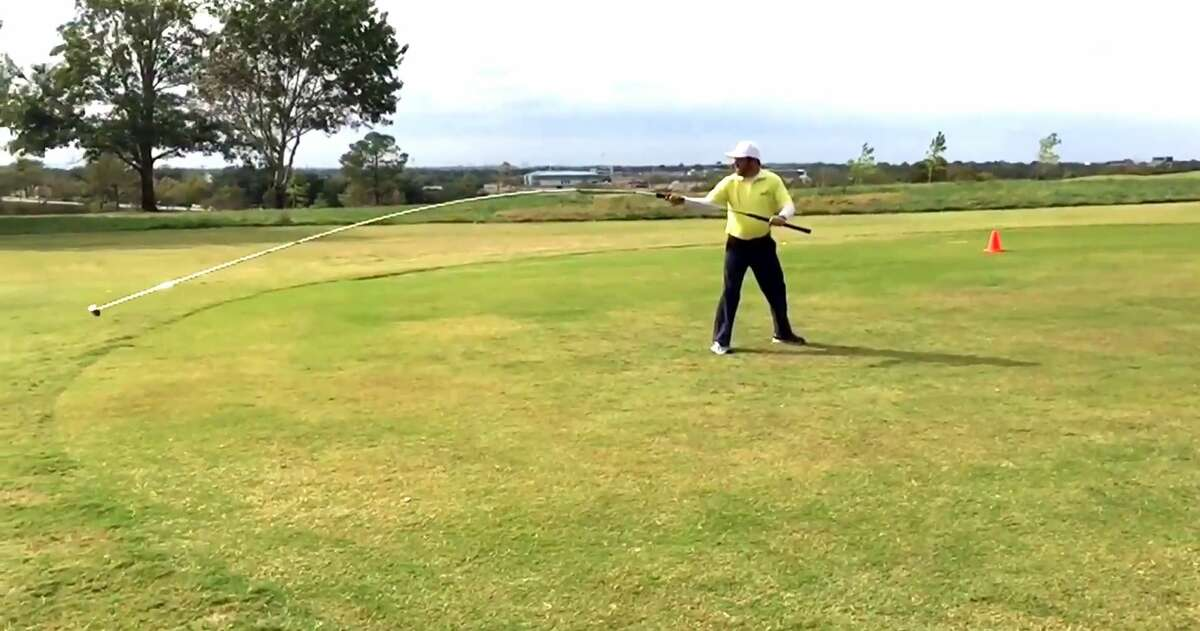 A Texas man has set a new Guinness World Record for longest shot accomplished with the longest usable golf club at a country club in Arlington on Nov. 3, 2014. A YouTube video shows Dallas man Michael Furrh hitting a ball 63 yards with a driver measuring 20 feet, six inches long.