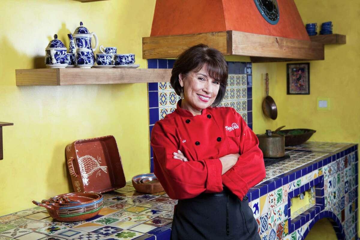 Sylvia Casares of Sylvia's Enchilada Kitchen at her new restaurant in the Energy Corridor, called Sylvia's in Houston, TX on Monday July 28, 2014. (Scott Dalton/Chronicle)