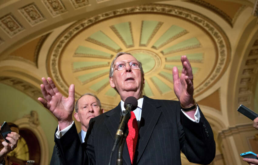 Sen. Mitch McConnell of Kentucky says the Senate is going to go back to work.