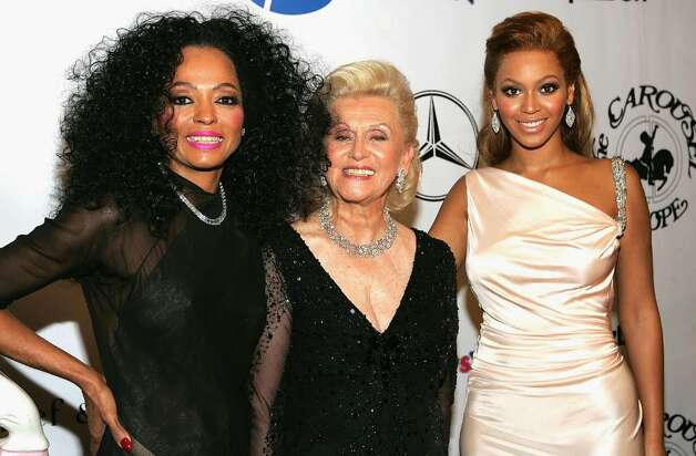 BEVERLY HILLS, CA - OCTOBER 23:   Singer Diana Ross, Barbara Davis and singer Beyonce Knowles during the cocktail reception at the 16th Carousel of Hope presented by Mercedes-Benz benefiting the Barbara Davis Center for Childhood Diabetes at the Beverly Hilton Hotel October 23, 2004 in Beverly Hills, California.  (Photo by Frank Micelotta/Getty Images)  *** Local Caption *** Diana Ross;Barbara Davis;Beyonce Knowles Photo: Frank Micelotta, Getty Images / 2004 Getty Images