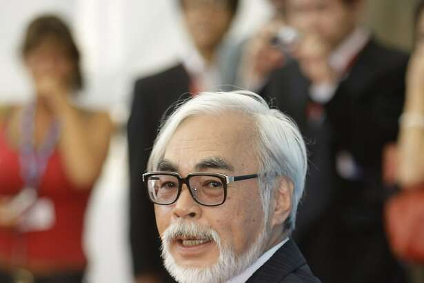 "FILE--In this Aug. 31, 2008 file photo, filmmaker Hayao Miyazaki poses at the photo call for the movie ""Gake No Ue No Ponyo"" at the 65th edition of the Venice Film Festival in Venice, Italy. An Oscar winner for his 2002 film ""Spirited Away,"" Miyazaki will accept an honorary Academy Award Saturday, Nov. 8, 2014, at the film academy's Governors Awards. Actress Maureen O'Hara, screenwriter Jean-Claude Carriere, and Jean Hersholt Humanitarian Award winner Harry Belafonte will also receive honorary Oscar statuettes at the private ceremony. (AP Photo/Andrew Medichini, File)"