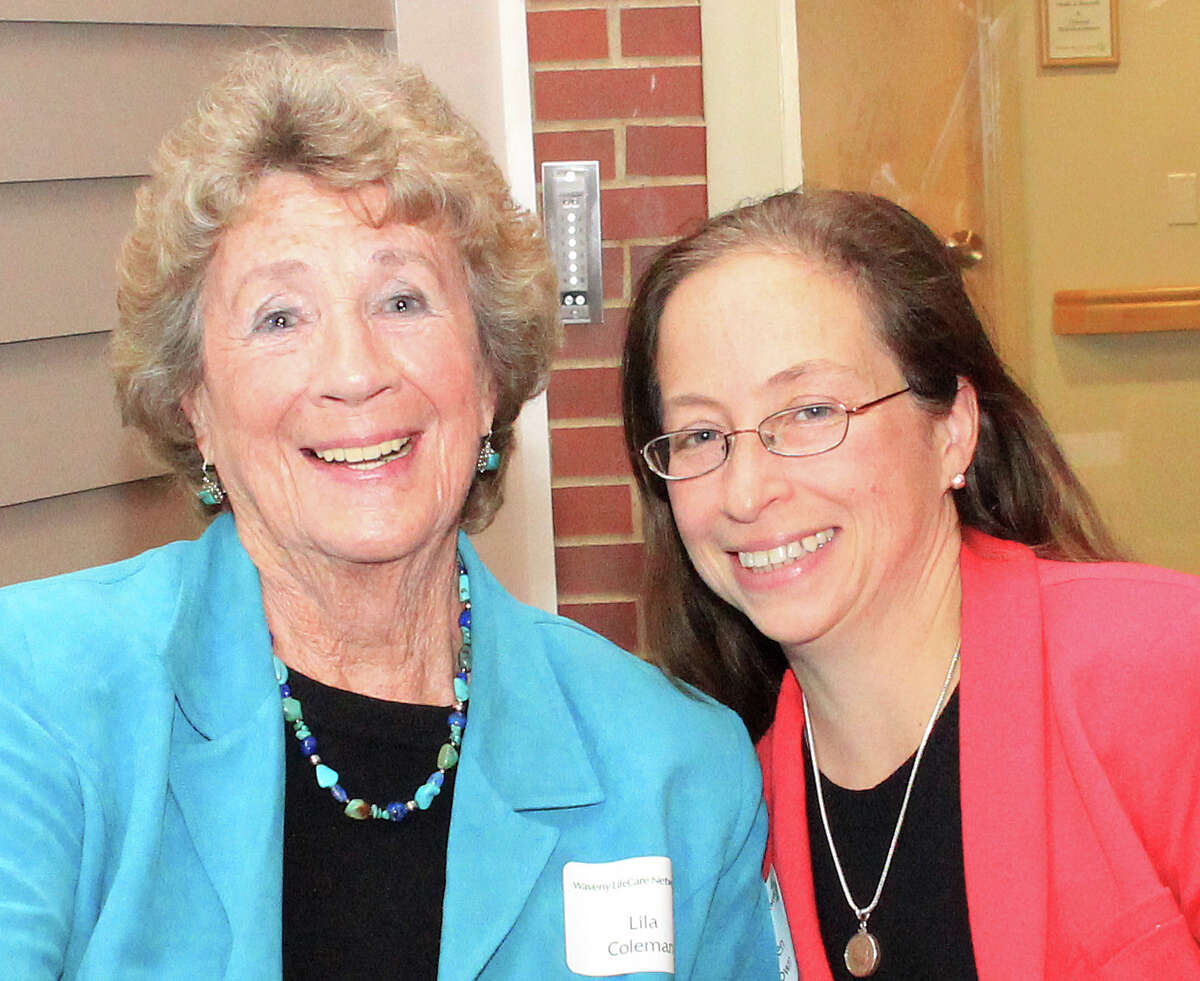 Honorees at the Waveny LifeCare Network's Donor Recognition Event included Lila Coleman, left, and the Barbara Benton Davis Fund at Fairfield CountyâÄôs Community Foundation represented by Karen Brown, vice president of programs.