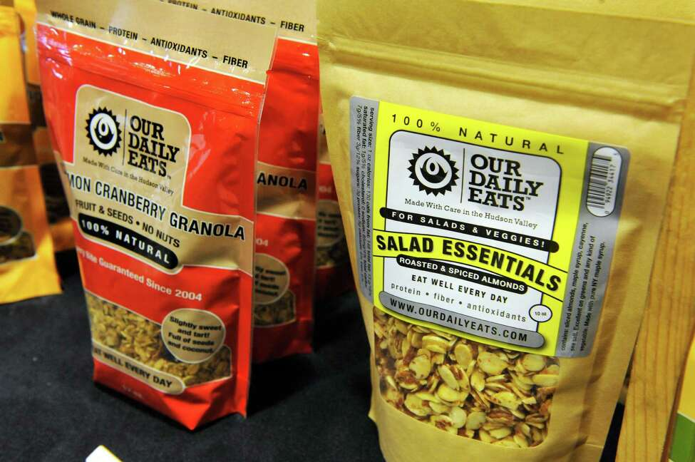 A view of the products for sale at the local food company, Our Daily Eats booth at the Schenectady Greenmarket on Sunday, Nov. 2, 2014, in Schenectady, N.Y. (Paul Buckowski / Times Union)