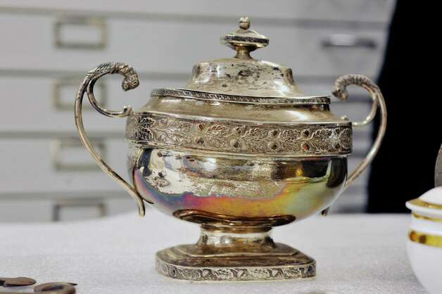 A view of a sugar bowl seen here at the Cherry Hill Edward Frisbee Center for Collections and Research on Thursday, Oct. 30, 2014, in Albany, N.Y.  (Paul Buckowski / Times Union) Photo: Paul Buckowski / 00029173A