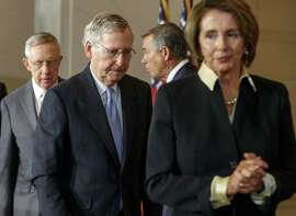 Sen. Harry Reid (left), D-Nev., will likely relinquish the majority leader post to Mitch McConnell, R-Ky., while Rep. John Boehner, R-Ohio, will retain the House speakership he rested from Nancy Pelosi, D-San Francisco, in 2012.