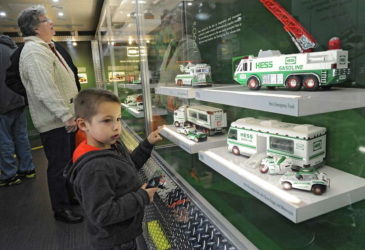 Nicholas Abbatiello, 5, of Rotterdam checks out his favorite trucks as Hess celebrates the 50th anniversary of the Hess Toy Truck with a first-ever Mobile Museum at the Hess Express on Wednesday, Nov. 5, 2014 in Rotterdam, N.Y. (Lori Van Buren / Times Union)