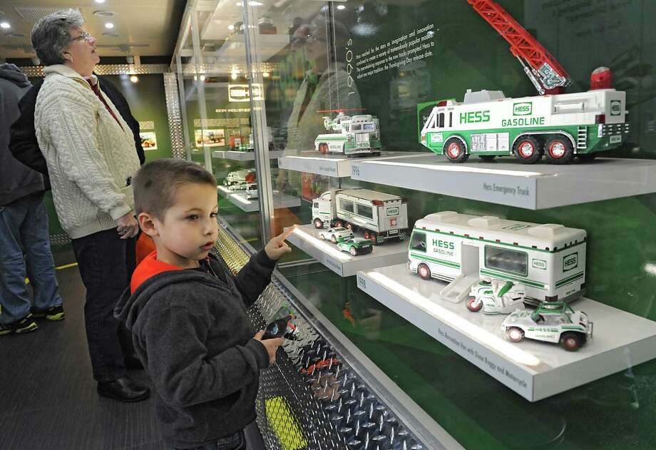 Nicholas Abbatiello, 5, of Rotterdam checks out his favorite trucks as Hess celebrates the 50th anniversary of the Hess Toy Truck with a first-ever Mobile Museum at the Hess Express on Wednesday, Nov. 5, 2014 in Rotterdam, N.Y. (Lori Van Buren / Times Union) Photo: Lori Van Buren / 00029304A