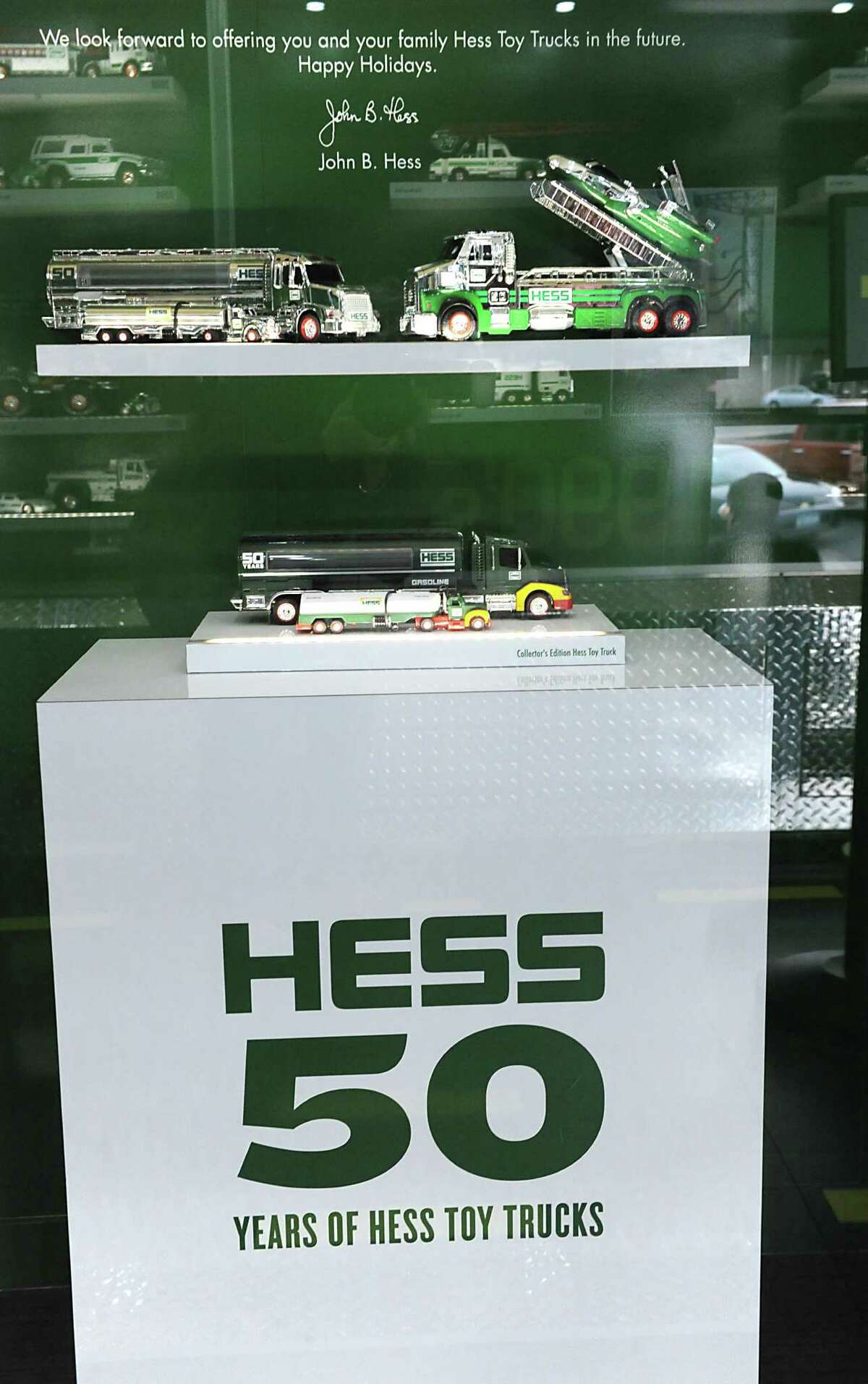Hess celebrates the 50th anniversary of the Hess Toy Truck with a first-ever Mobile Museum at the Hess Express on Wednesday, Nov. 5, 2014 in Rotterdam, N.Y. (Lori Van Buren / Times Union)