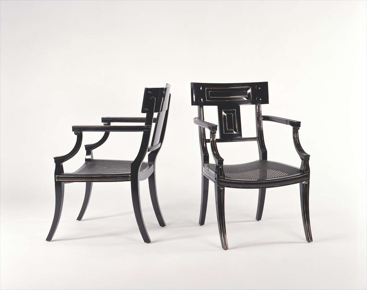 Michael Taylor chairs were a steal plucked from the consignment site Chairish.