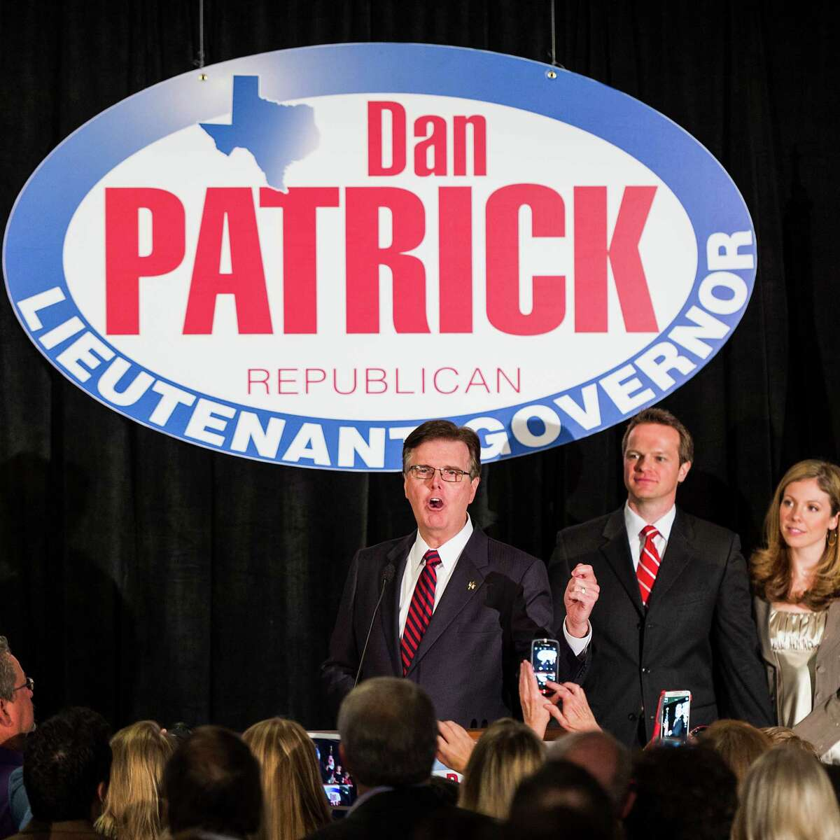 """On Election Night, Dan Patrick struck a conciliatory tone, pledging to be """"the lieutenant governor of all people."""""""