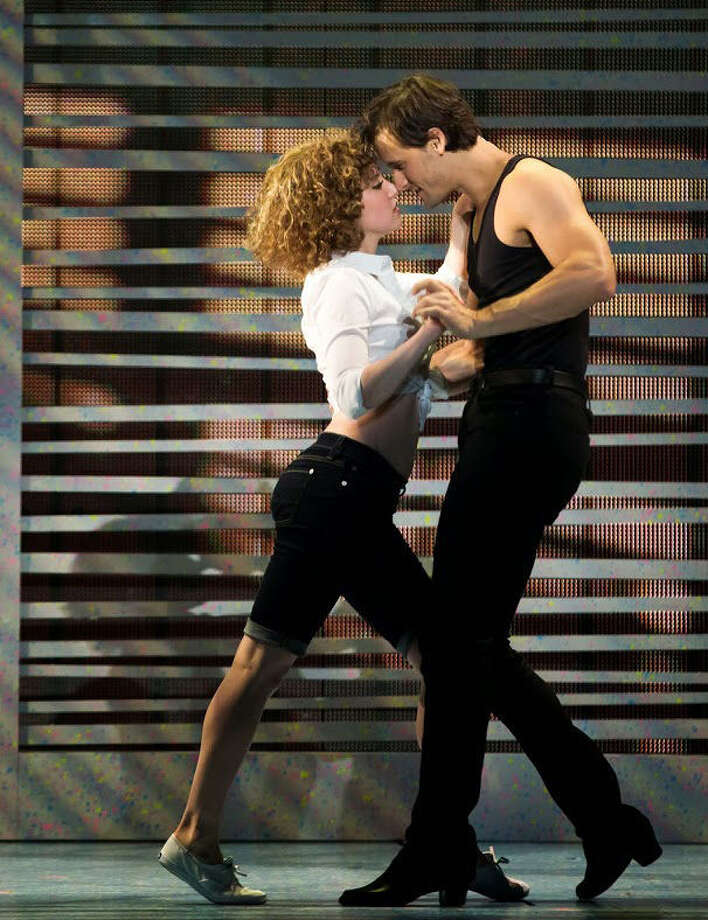 "Jillian Mueller (Frances ""Baby"" Houseman) and Samuel Pergande (Johnny Castle) star in the North American national touring production of ""Dirty Dancing."" Photo: Courtesy Photo / Matthew Murphy"