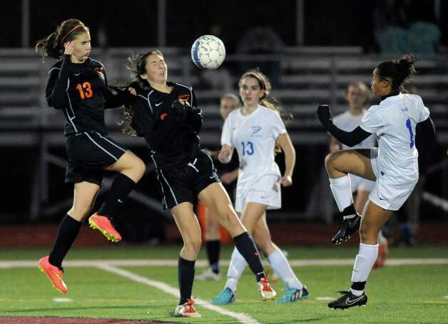 Bethlehem defeated Saratoga Springs 2-1 in the girls high school soccer Section II Class AA final at Stillwater High School on Wednesday Nov. 5, 2014 in Stillwater, N.Y. (Michael P. Farrell/Times Union) Photo: Michael P. Farrell / 00029336A