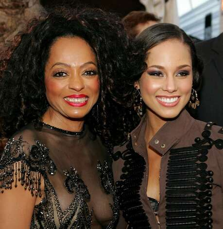"LOS ANGELES - NOVEMBER 14:  Singer Diana Ross (left) and musician Alicia Keys arrive to the 32nd Annual ""American Music Awards"" on November 14, 2004 at the Shrine Auditorium, in Los Angeles, California. (Photo by Frank Micelotta/Getty Images) Photo: Frank Micelotta, Getty Images / 2004 Getty Images"