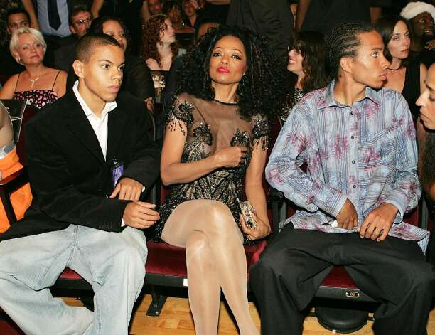 "LOS ANGELES - NOVEMBER 14:  Singer Diana Ross and family sit in the audience at the 32nd Annual ""American Music Awards"" at the Shrine Auditorium November 14, 2004 in Los Angeles, California. (Photo by Frank Micelotta/Getty Images) Photo: Frank Micelotta, Getty Images / 2004 Getty Images"