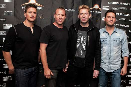 April 1, 2015Nickelback: The Canadian rock band will perform at the Cynthia Woods Mitchell Pavilion. Photo: Gabriel Olsen, Getty Images / 2014 Gabriel Olsen
