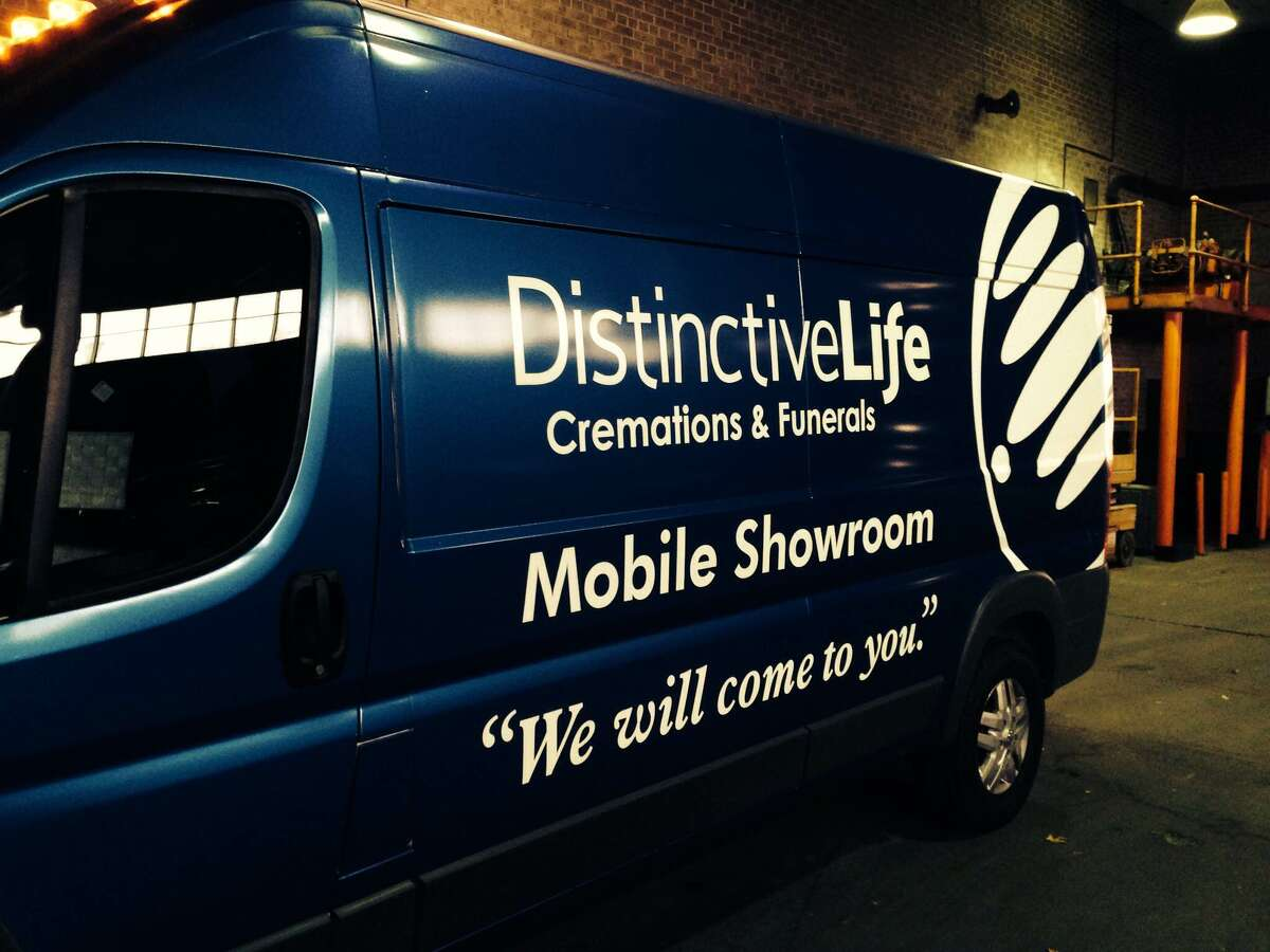 Distinctive Life Cremations & Funerals is rolling out the first mobile funeral home showroom. The Houston-based company, founded by Jeff Freidman, has transformed a late model cargo van into a shopping experience on wheels, with a selection of urns and memorials for families to choose from. The company has five locations around Houston.
