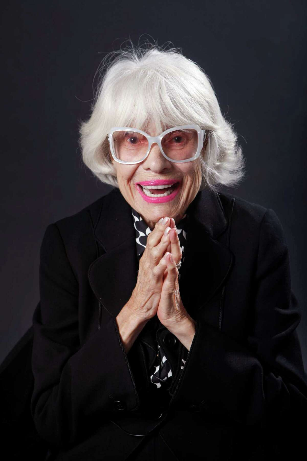 Carol Channing poses for a portrait during a visit to the San Francisco Chronicle on November 5, 2014 in San Francisco, Calif. Channing asked to visit the newsroom because her father's best friend worked at the paper in the 1920s.