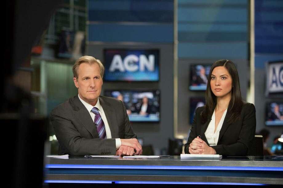 "Jeff Daniels and Olivia Munn star in Season 3 of ""The Newsroom"" at 8 p.m. Sunday, Nov. 9 on HBO. Photo: Melissa Moseley / Melissa Moseley / HBO"